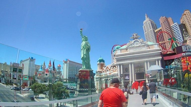 Pedestrian Bridge Between MGM Grand and NYNY Hotel